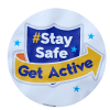 stay safe get active pavement sticker