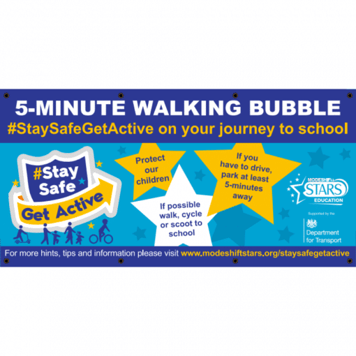 walking bubble banner