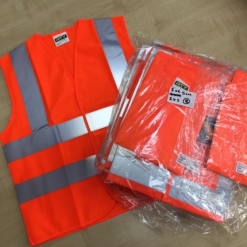 orange high vis waistcoats