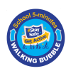 school five minutes lamp post sticker