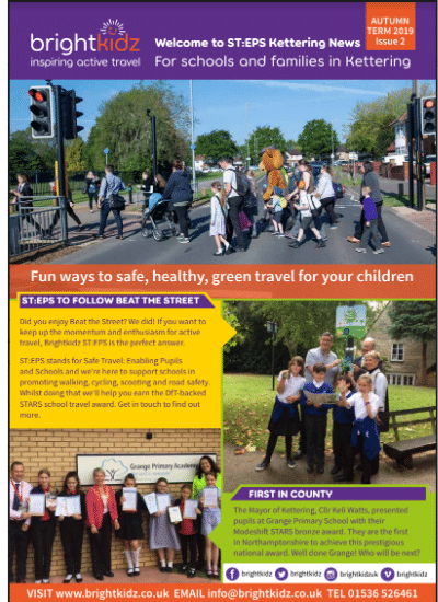 front page of STEPS Kettering newsletter