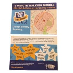 walking bubble postcard map