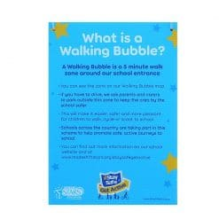 what is a walking bubble sign
