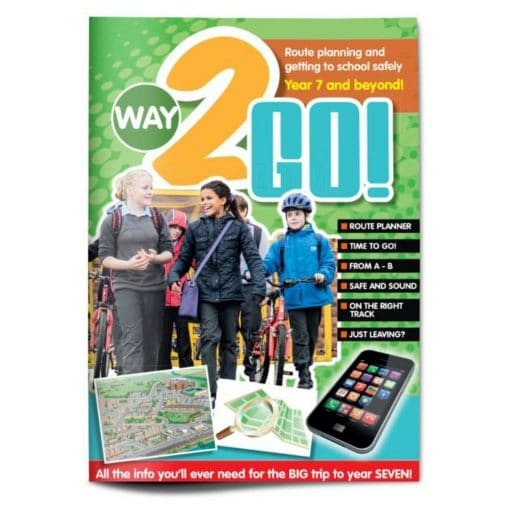 front of activity book for active travel to secondary school
