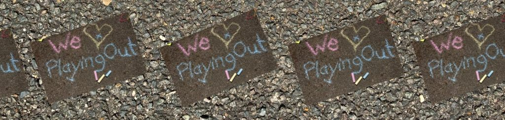 playing out chalk message
